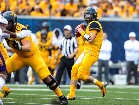 West Virginia Mountaineers quarterback Will Grier.