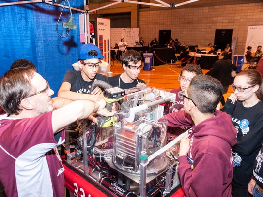 The Clifton team's robot is capable of acquiring a