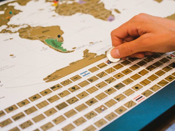 Fun interactive scratch off map for only $23.99.