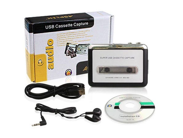 Convert cassette tapes into MP3 files with this set.