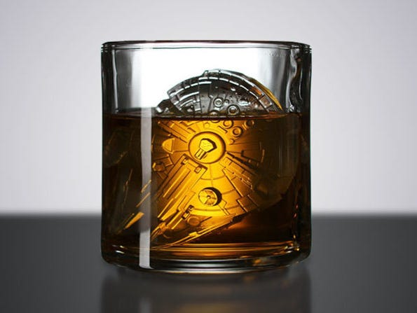 Chill any beverage at light speed with the Millennium Falcon ice mold.