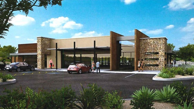 GoDaddy founder Bob Parsons proposes to build a new restaurant in north Scottsdale with 3,600 square feet of patio space and a rooftop deck where guests can enjoy drinks and views of the desert mountains just across the street.