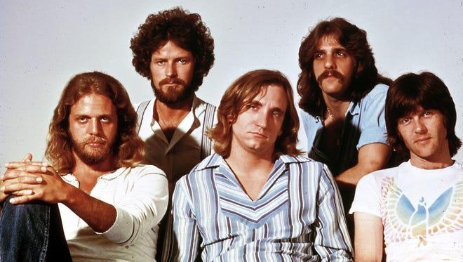 The Eagles in 1976. Back, Don Henley and Glenn Frey, front, Don Felder, Joe Walsh Randy Meisner.