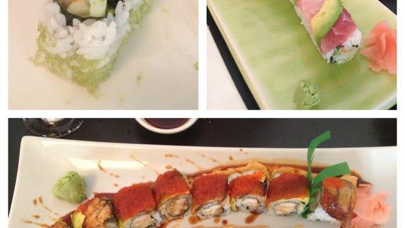 Three rolls at Tokyo Restaurant.