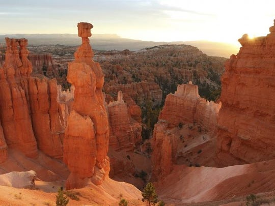 """Ah, just soak in the splendor. Take an off-trail adventure into such American natural treasures as Yellowstone, Monument Valley, Yosemite, Devils Tower, Bryce Canyon (shown here), Arches and The Everglades when """"National Parks Adventure 3D"""" opens Friday at the IMAX Theatre in the Challenger Learning Center on Kleman Plaza. The family-friendly documentary, which marks the 100th anniversary of the National Park Service, is narrated by Oscar-winner Robert Redford. The soundtrack features songs by Bruce Springsteen, Jeff Buckley and American Authors. It's not rated and runs 45 minutes."""