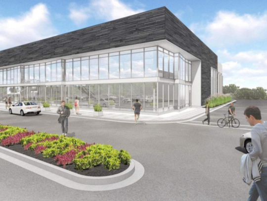 An artist rendering shows a fitness center proposed