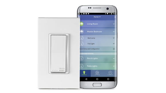 This in-wall switch works perfectly with iOS and Android.