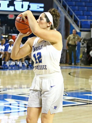 Sophomore Jess Louro (12) was impressive from beyond the three-point line Thursday night.