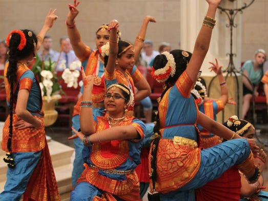 Dancers from the Natya Kendra Dance Academy  perform