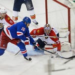 Back on Broadway, Rangers top Panthers 4-2