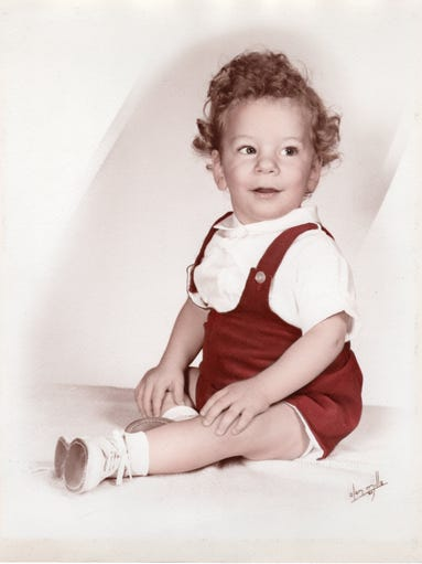 Phil Valentine in January 1961 at 16 months old