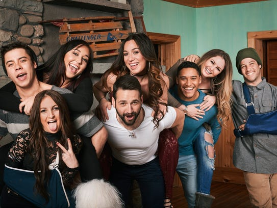 "The cast of MTV's ""Winter Break: Hunter Mountain."""