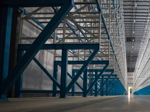 Inside Win Chill, the giant refrigerated warehouse in