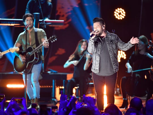 Dan and Shay performs at the 2018 CMT Awards Wednesday,