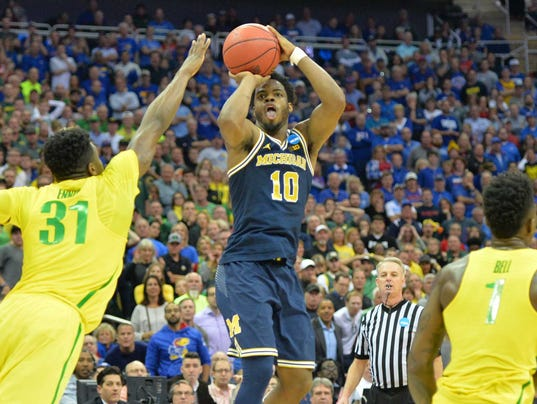 NCAA Basketball: NCAA Tournament-Midwest Regional-Oregon vs Michigan