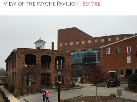 Current view of the Wyche Pavilion at the Peace Center.