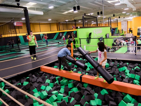 Lots of jumping activites and things for kids at Rockin'