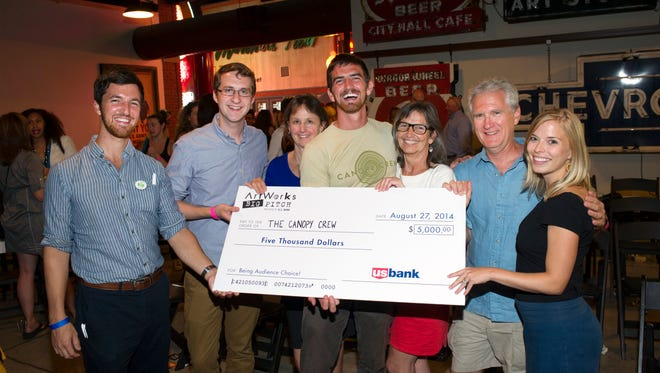 Django Kroner of the Canopy Crew won the $5,000 audience choice award at the inaugural Big Pitch in 2014.
