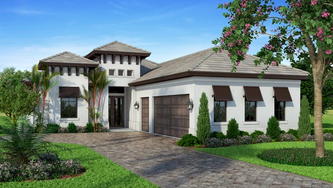 Vogue Interiors is creating the interior for Harbourside Custom Homes' Villa Adriana II furnished model at Miromar Lakes Beach & Golf Club.