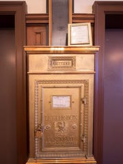 A chute carries mail from the hotel's upper floors to a brass mailbox in the lobby. Both date back to the Yorktowne's opening in 1925. When groups of school children visit the hotel, a highlight of their visit is to have them fill out a postcard drop and watch it drop down the transparent chute into the mailbox.