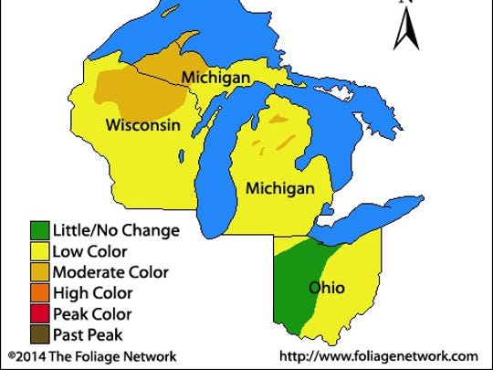 The Foliage Network today said fall color is up to 60% in parts of the Upper Peninsula of Michigan and in northern Wisconsin - but there is some color all over the state already.