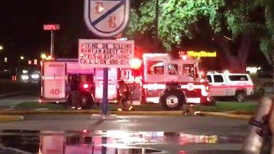 Fire damages a building at Daignault Realty on Merritt Island.