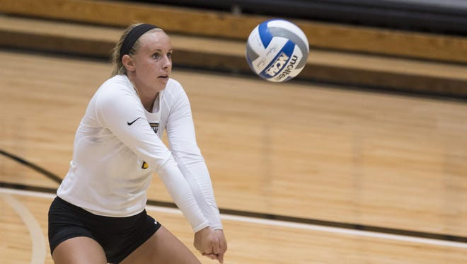 Mel Stewart became the 17th member of NKU's 1,000-dig club Aug. 29 against the University of Cincinnati. She's now fifth all-time at NKU with 1,364 digs.