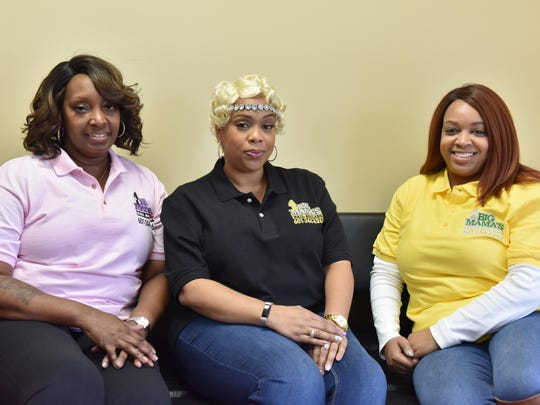 From left, Tanna Eubanks, Michelle Lodree and Kakami