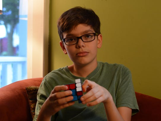 Levi Edler can solve Rubik's Cubes in under 10 seconds.