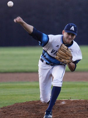Airline's Cameron Parikh pitches during a 5-1 win over Captain Shreve at Airline last Tuesday.
