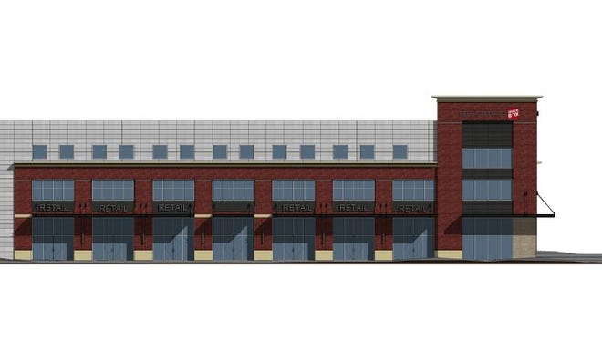 A rendering of the Spacebox Storage project planned at  4305-4307 Alabama Ave.