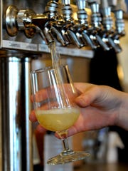 Cata-Wampus Dry Hopped Hard Cider on tap