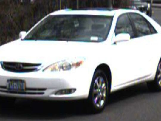This white Camry has been identified as the vehicle