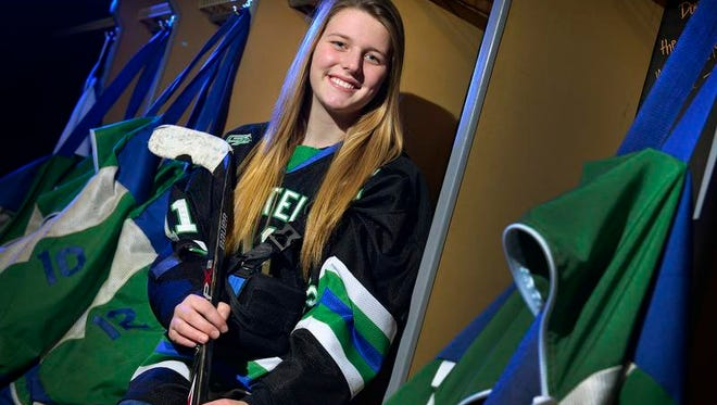Sartell/Sauk Rapids Storm'N Sabres' senior forward Lexi Holman is the Times' All-Area girls hockey player of the year.