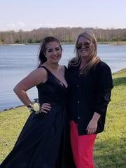 Kaylie Johnson and her mother, Amanda Garcia.