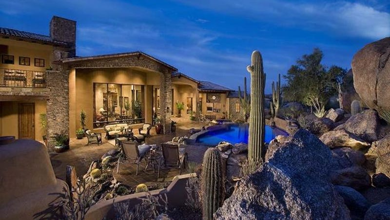 Luxury Homes 52m Scottsdale Mansion Has 4000 Square Feet Of - Guirey-residence-arizona-architecture-classic