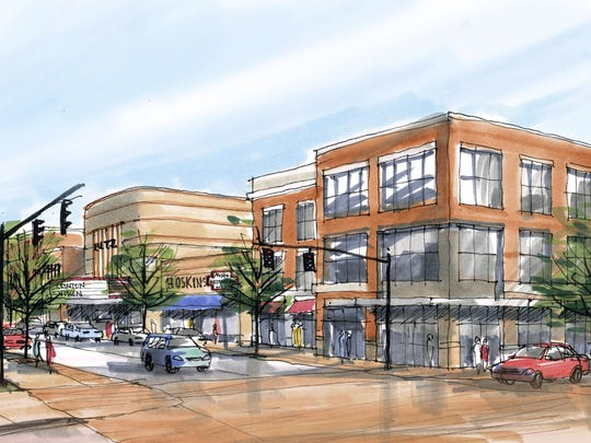 Urban designer Gianni Longo's vision for a spruced-up Main Street in Clinton.