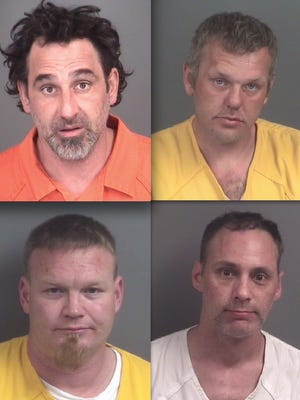 Top row, from left: Anthony Lafond and Johnny Brewer. Bottom: Henry Haigh and Christopher Jones.