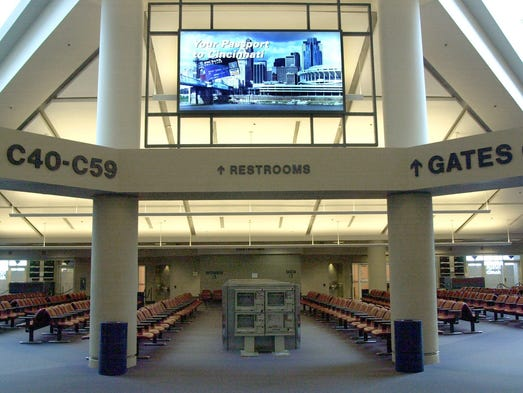 A look at the entrance to a Concourse C waiting area
