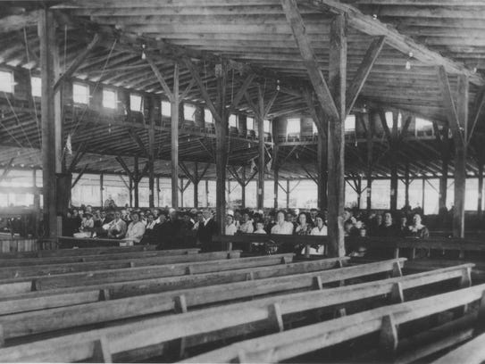 This photo shows the second Tabernacle erected in 1917