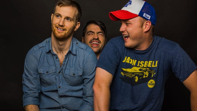 Drew Morgan, left, Trae Crowder and Corey Ryan Forrester are bringing their wellRed Comedy Tour to Zanies on Sunday.