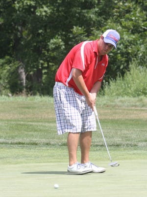 Brian Viola putts during the second round of the 2015 Dutchess County Amateur at The Links at Union Vale. Viola, the 2012 Amateur champion, tees off at 9:06 a.m. with fellow Spackenkill graduate Ian Wilson and current Spackenkill golfer Erik Stauderman.