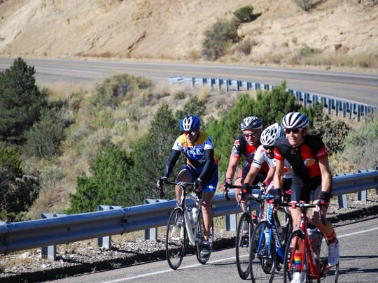 The 100-mile- tour takes riders through one of the