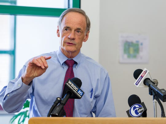 U.S. Sen. Tom Carper says there needs to be continuity in leadership at the Wilmington VA.