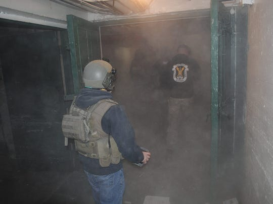 The York County Quick Response Team recently trained inside a wing of the Yorktowne Hotel. The wing is scheduled to be demolished as part of the renovations to the hotel.