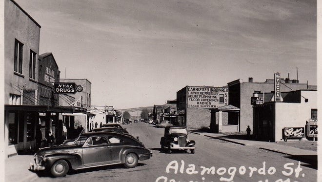 With the exception of the vehicles, very few changes have occurred on 12th Street since the time it was known as Alamogordo Street. This street was packed with activity during Saturday's Carrizozo Festival