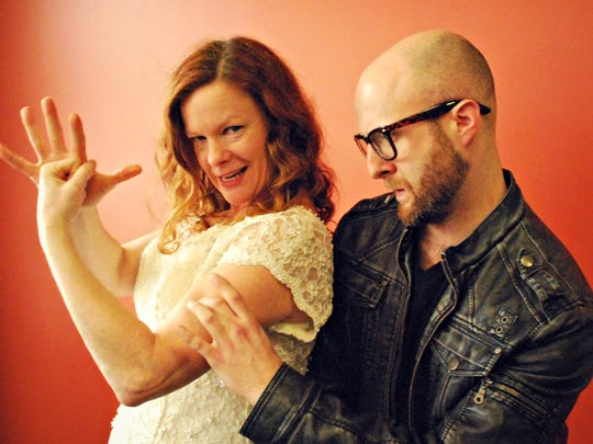 """Chris Caswell and Alex Nicosia are among the performers in """"Making Babies and Other Complications"""" starting tonight in Burlington."""