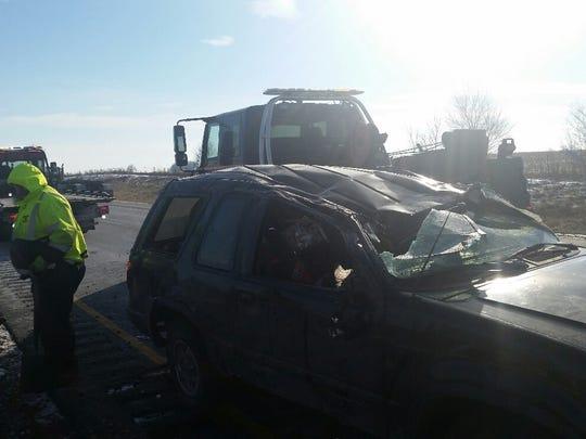 Ford Explorer involved in fatal roll over crash.