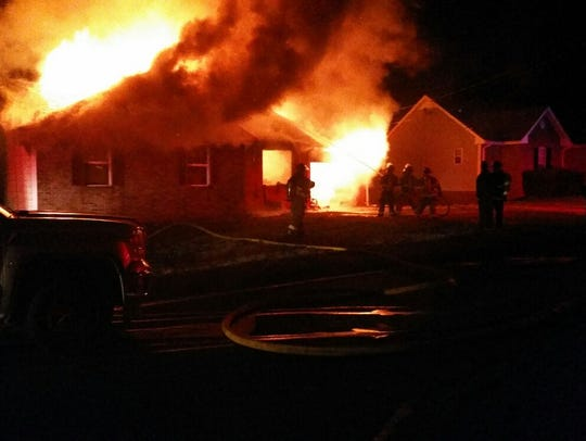 A house on Brook Mead drive was destroyed by fire on