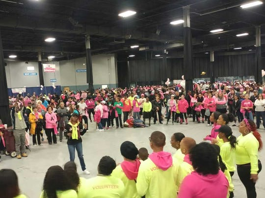 More than 2,500 Central Jersey residents came together at the N.J. Convention and Exposition Center for the American Cancer Society Making Strides Against Breast Cancer walk. The walkers raised $360,000 Sunday to help create a world free from the pain and suffering caused by breast cancer.